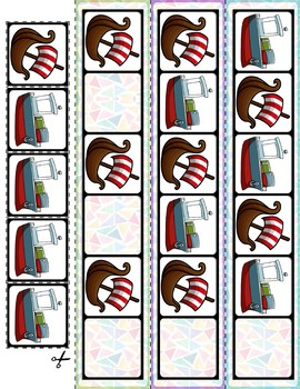Transportation Vehicles AB Pattern Cards | 30 Cards