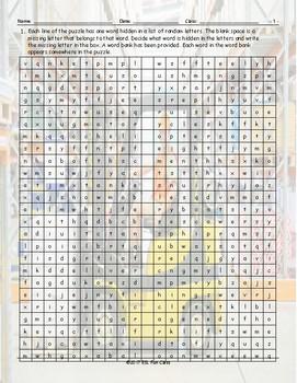 Transportation-Vehicles Alphabet Soup Worksheet