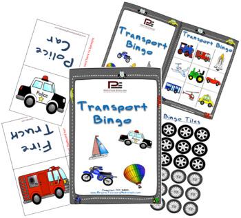 Transportation/Vehicles BINGO | Fun Game