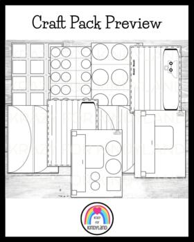 Transportation / Vehicles Craft and Writing Pack: Ship, Car, Truck, Train
