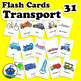 ESL Transportation Vehicles Flash Cards - bicycle, boat, t