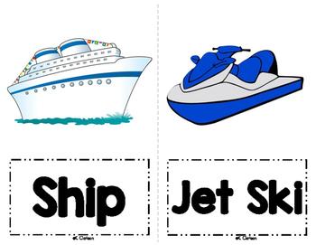 Transportation Vocabulary Cards