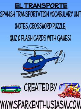 Transportation Vocabulary, Activities, Crossword, Games, & Quiz Unit