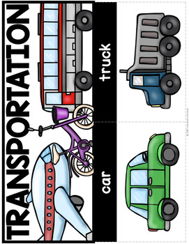 Transportation Vocabulary Activities for Beginning ELLs