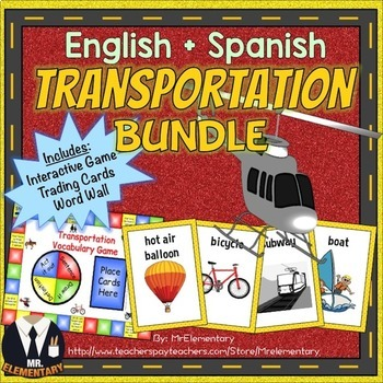 Transportation Vocabulary Bundle