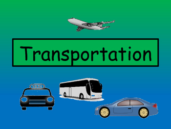 Transportation Vocabulary – ESL Activity Packet