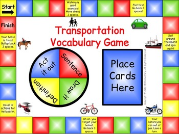 Transportation Vocabulary Game