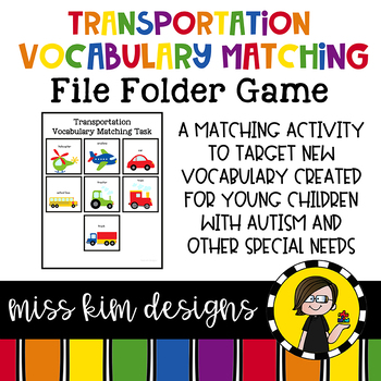 Transportation Vocabulary Matching Folder Game for Special