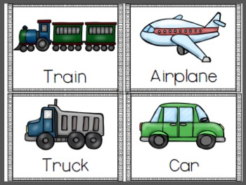 Transportation Vocabulary Pack