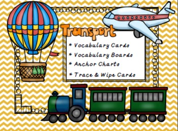 Transportation Vocabulary Pack