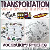 Transportation Vocabulary Write The Room