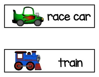 Transportation -- Vocabulary Word Cards