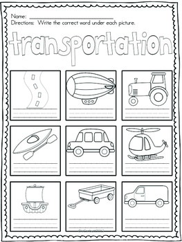 Transportation Vocabulary Words