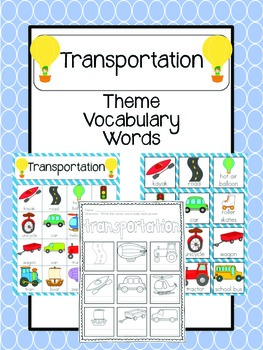Transportation Vocabulary Words