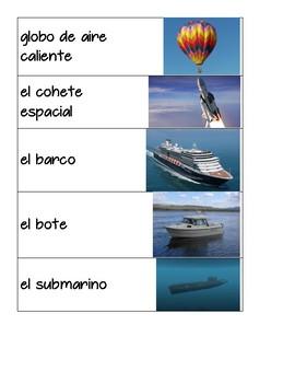 Transportation Vocabulary in Spanish