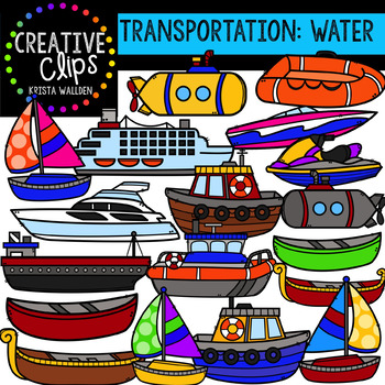 Transportation: Water {Creative Clips Clipart}