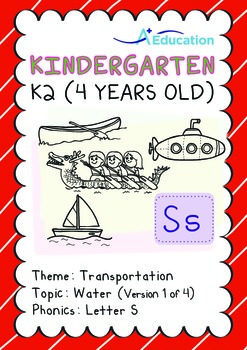 Transportation - Water (I): Letter S - K2 (4 years old)