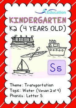 Transportation - Water (II): Letter S - K2 (4 years old)