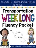 Transportation Week Long Fluency Packet