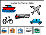 Transportation--Where Vehicles Go Adapted Book