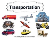 Transportation Whole Group or Station Activity
