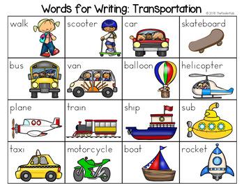Transportation Word List - Writing Center