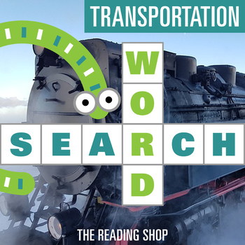 Transportation Word Search - Primary Grades - Wordsearch Puzzle