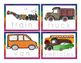 Transportation Word Tracing Cards Color and BW
