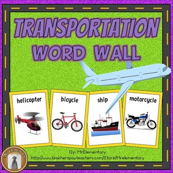 Transportation Vocabulary Word Wall