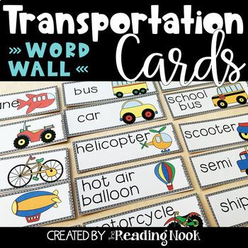 Transportation Word Wall