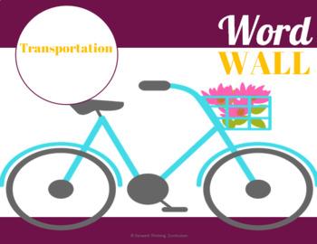 Transportation: Word Wall