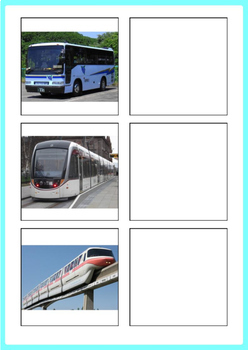 Transportation Word to Picture Matching Activity