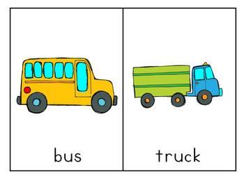 Transportation Words {Vocabulary/Read the Room Activity}