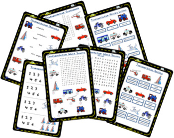 Transportation Worksheets   Word Search, Crossword, Matching and more