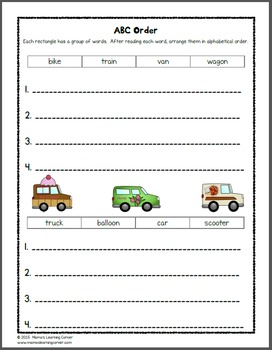 transportation worksheets for kindergarten and first grade tpt. Black Bedroom Furniture Sets. Home Design Ideas