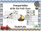 Transportation Write the Math Room