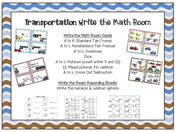 Transportation Write the Math Room