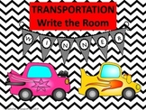 Transportation Write the Room & Activities