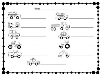 Transportation Write the RoomTwo Versions for Differentiated Instruction