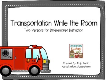 Transportation Write the RoomTwo Versions for Differentia