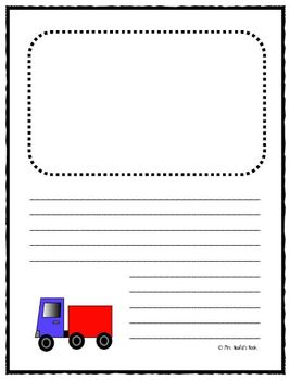 Writing Paper Templates - Transportation Theme