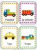 Transportation Writing Prompt Word Cards for IKEA TOLSBY frames