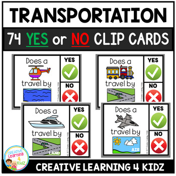 Transportation Yes or No Clip Cards