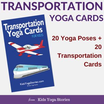 Transportation Yoga Cards for Kids