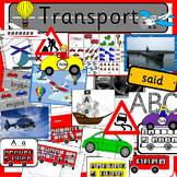 Transportation activity pack- sea, air, car and bus