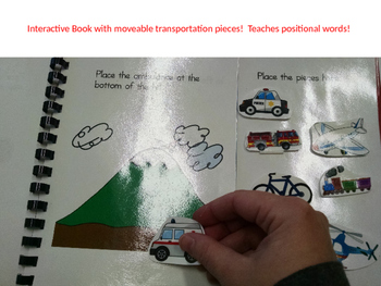 Transportation and Positional Words - Interactive Book