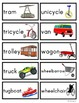 Transportation and Vehicle Picture and Word Flashcards