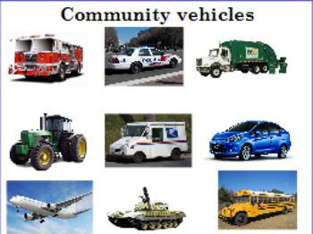 Transportation and Vehicles in the community
