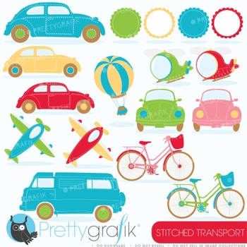 Transportation clipart commercial use, vector graphics, di