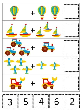 Transportation preschool curriculum package. Great for daycare and homeschool.